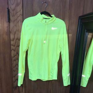 Nike Highlighter Yellow Neon Half Zip Sweatshirt